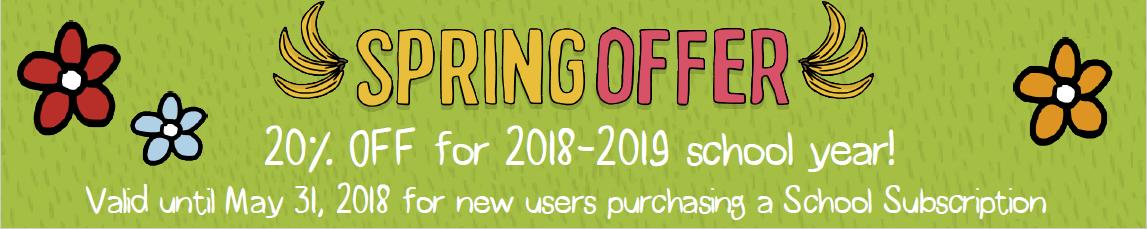 Spring offer banner